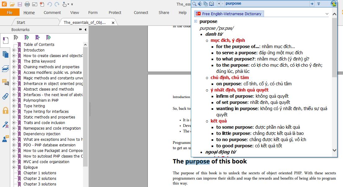 Dịch tiếng anh trên file PDF
