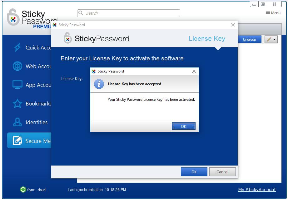 Miễn phí phần mềm Sticky Password Premium