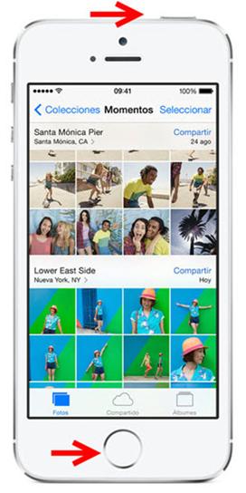 Chụp màn hình với điện thoại Iphone