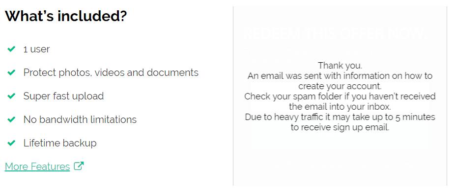Thông báo kiểm tra email