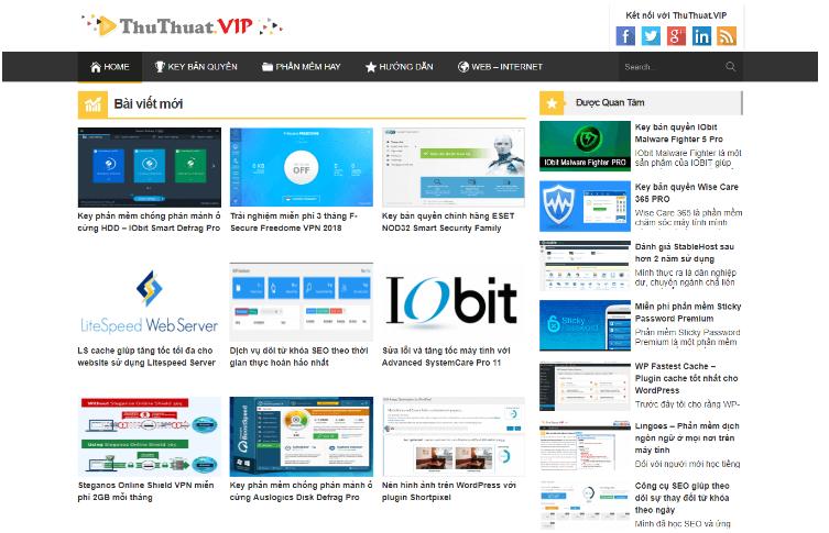 Theme WordPress chuẩn SEO cho web tin tức hoặc blog cá nhân