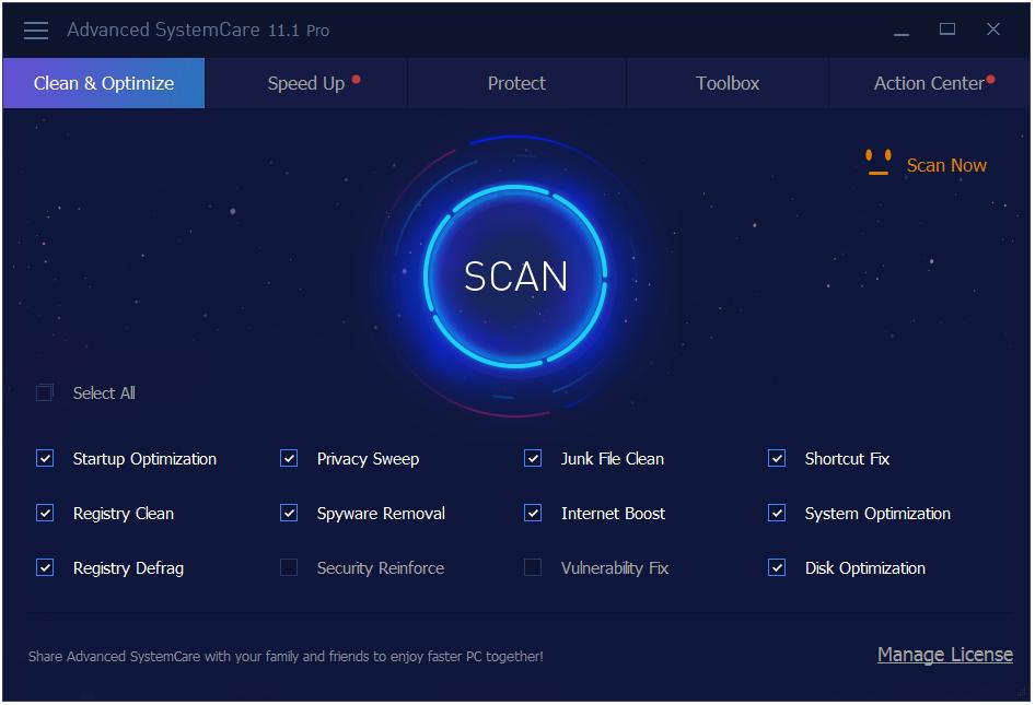 Key bản quyền Advanced-SystemCare-Pro-11