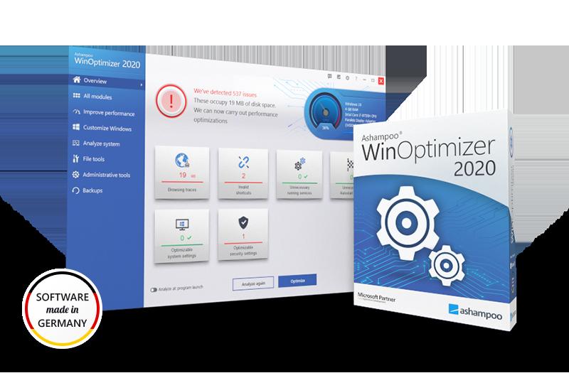 Miễn phí 1 năm phần mềm Ashampoo WinOptimizer 2020