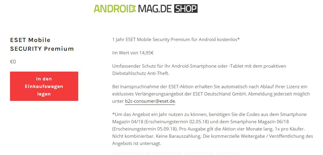 miễn phí ESET Mobile Security Premium
