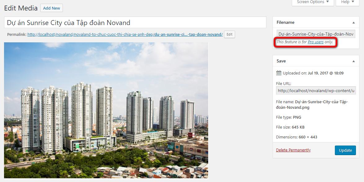 Thay đổi tên hình ảnh với Media File Renamer