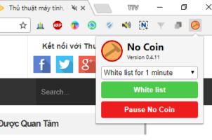 Tiện ích mở rộng giúp chặn các website đào coin trên Chrome