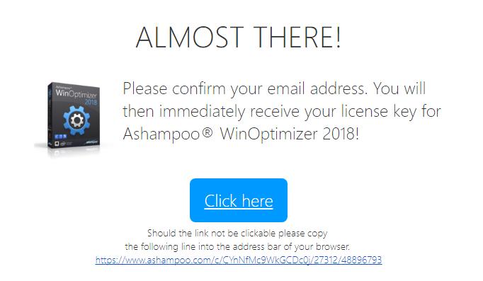 Miễn phí 1 năm phần mềm Ashampoo WinOptimizer 2019 2