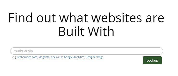 kiểm tra công nghệ web của 1 website bất kỳ
