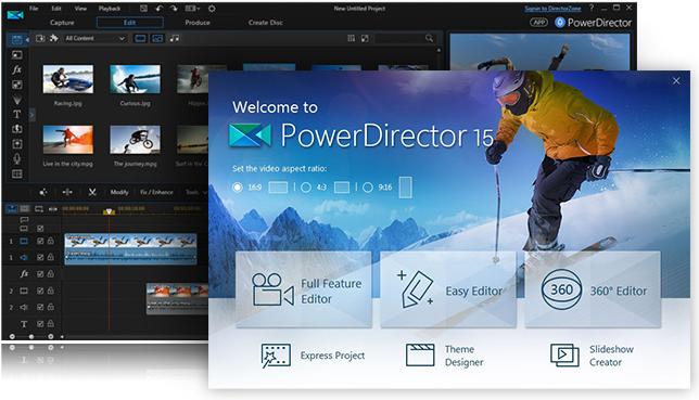 Phần mềm PowerDirector 15 LE