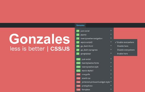 Load file js, css trên những trang nhất định với plugin Gonzales