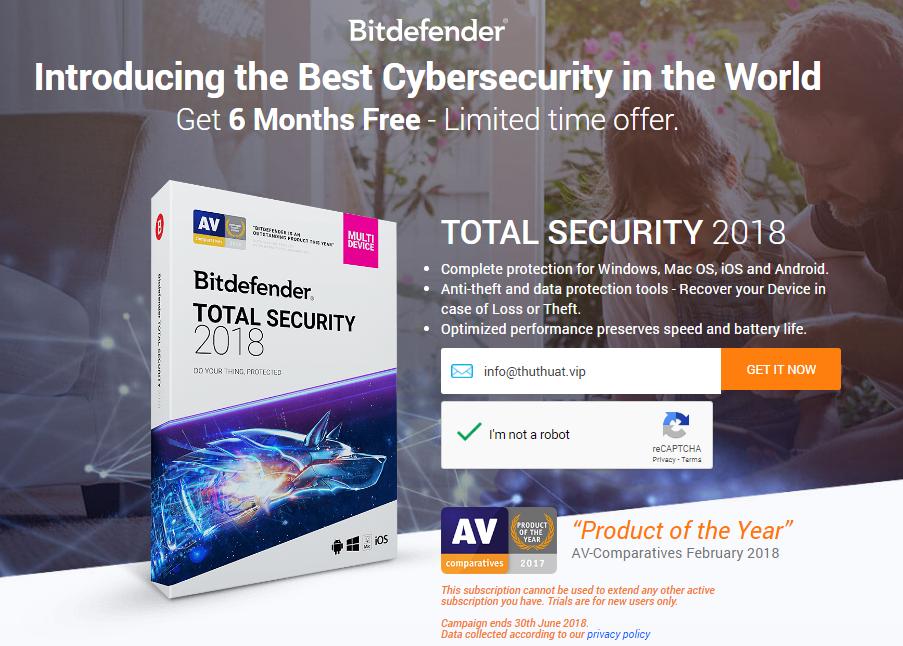 Bitdefender Total Security Miễn Phí