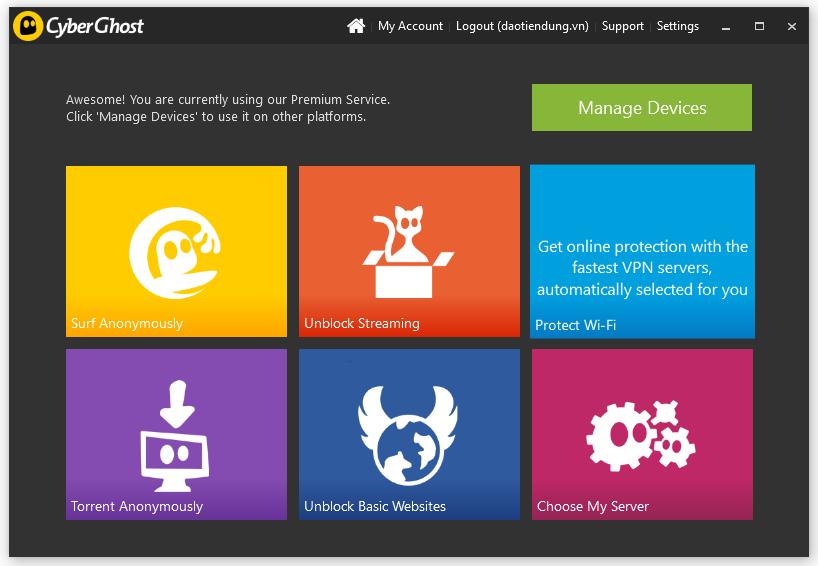 Hướng dẫn cài đặt và sử dụng phần mềm Cyberghost VPN 6