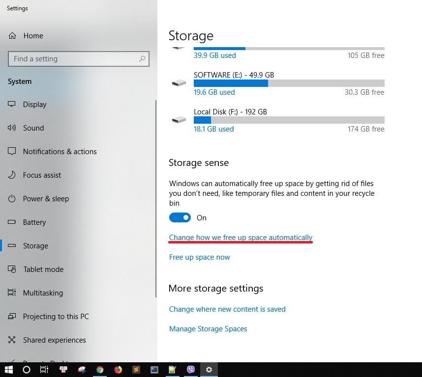 Dọn rác tự động trên Windows 10