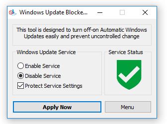 Vô hiệu hóa tính năng update của Windows