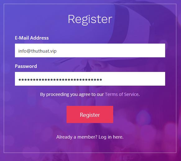 Đăng ký tài khoản khóa học online
