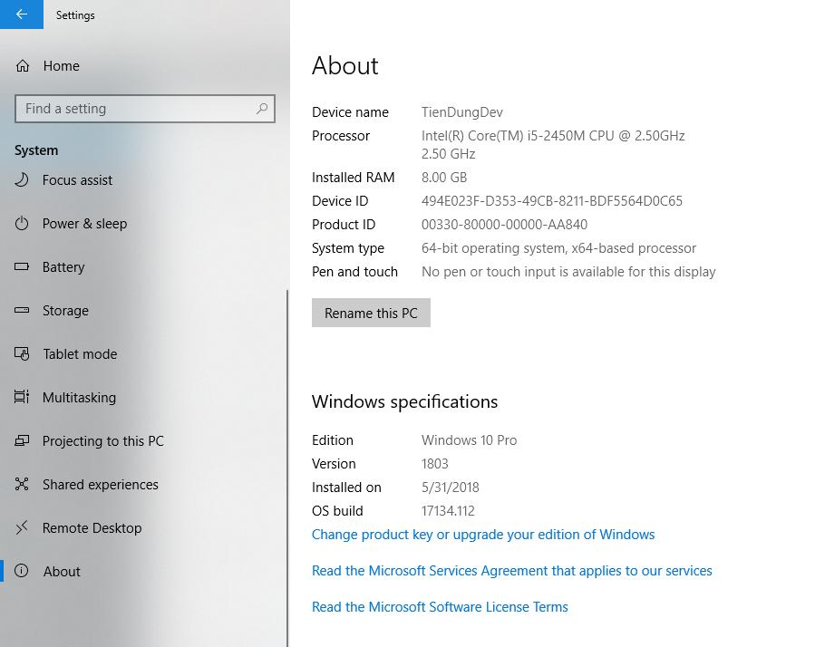 Xem phiên bản Windows