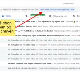Xóa tất cả email chỉ với vài bước đơn giản trên giao diện Gmail mới