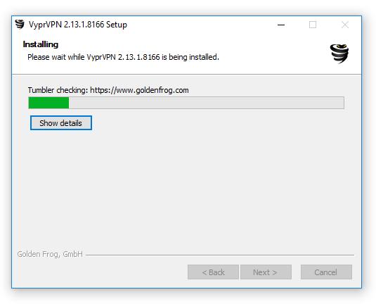 Cài đặt phần mềm VyprVPN 1