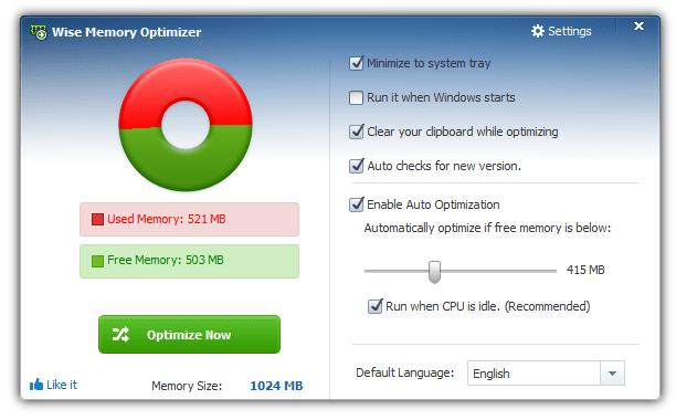 Tự động giải phóng bộ nhớ RAM trên máy tính khi sắp full 100%