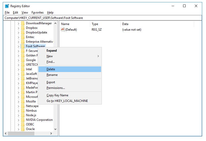 Xóa sạch regedit phần mềm trên Windows