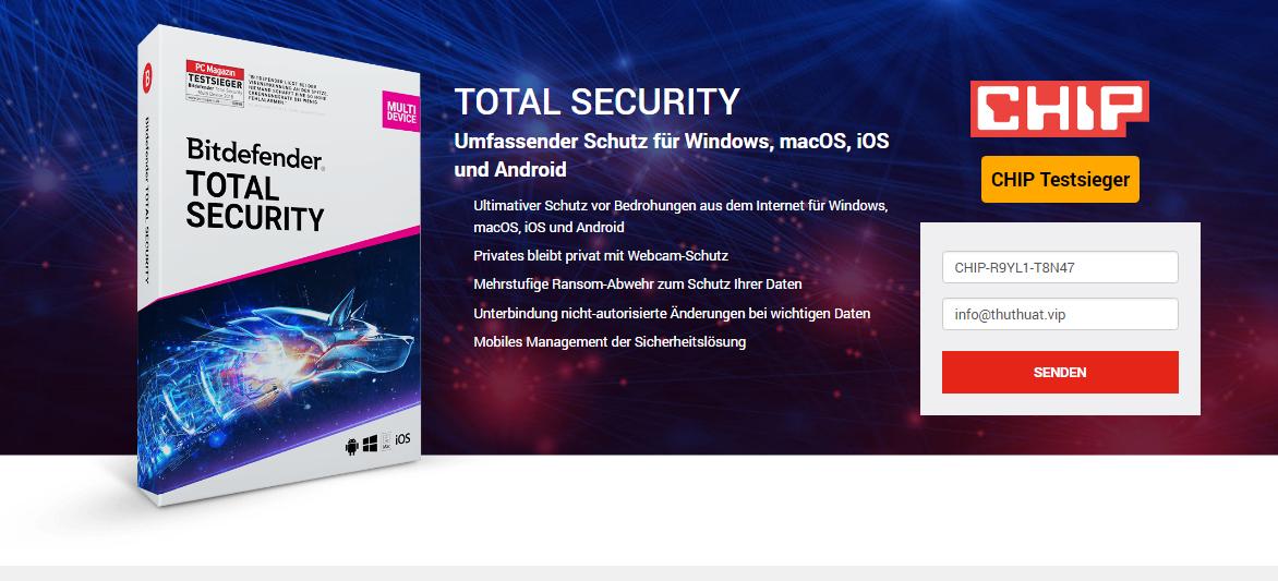 Miễn phí 6 tháng bitdefender total security