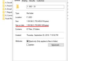 Kiểm tra dung lượng thư mục (folder size) trong Windows