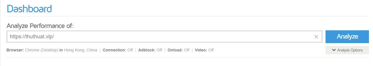kiểm tra tốc độ web với Gtmetrix