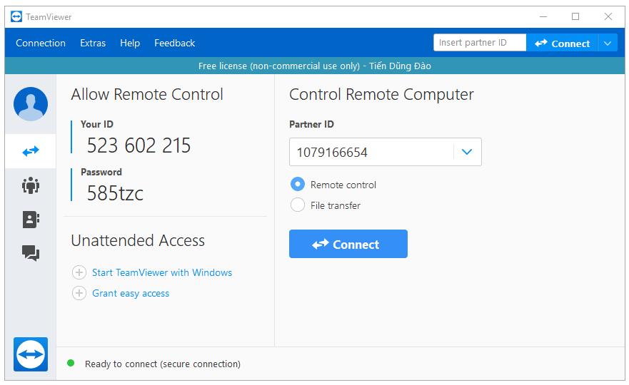 Phần mềm kết nối máy tính từ xa
