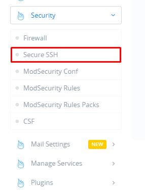 Thay đổi port ssh