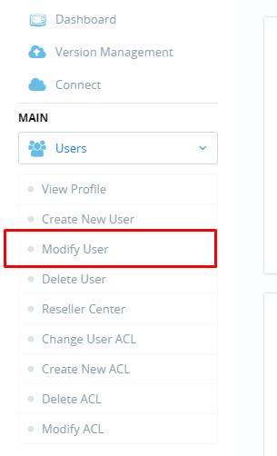Thay đổi thông tin đăng nhập cyberpanel