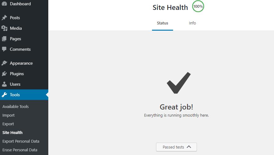 Site health 100 điểm