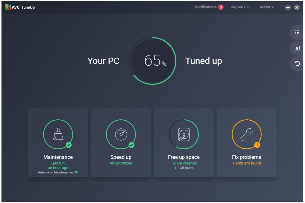 Miễn phí key phần mềm chăm sóc máy tính AVG TuneUp 2020