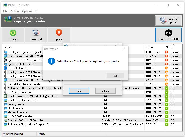 Kích hoạt bản quyền phần mềm cập nhật driver