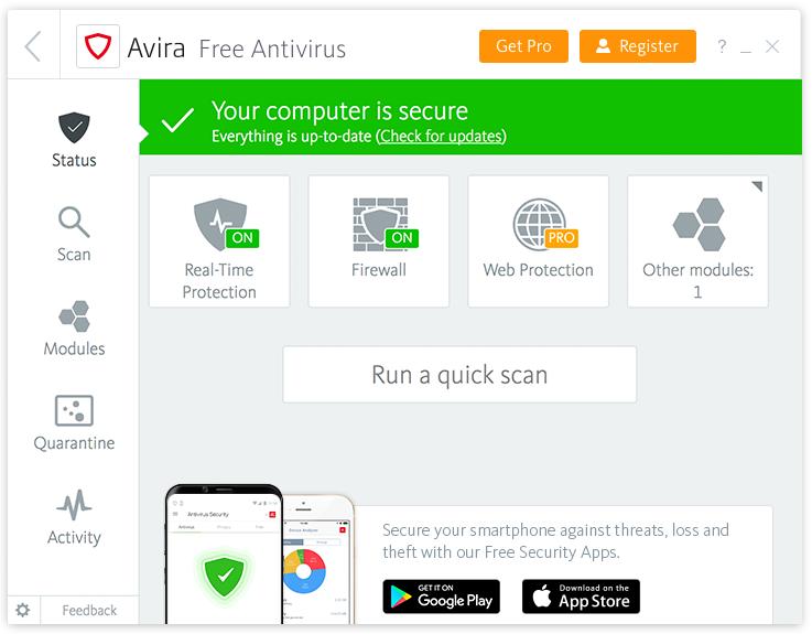 Phần mềm diệt virus Avira
