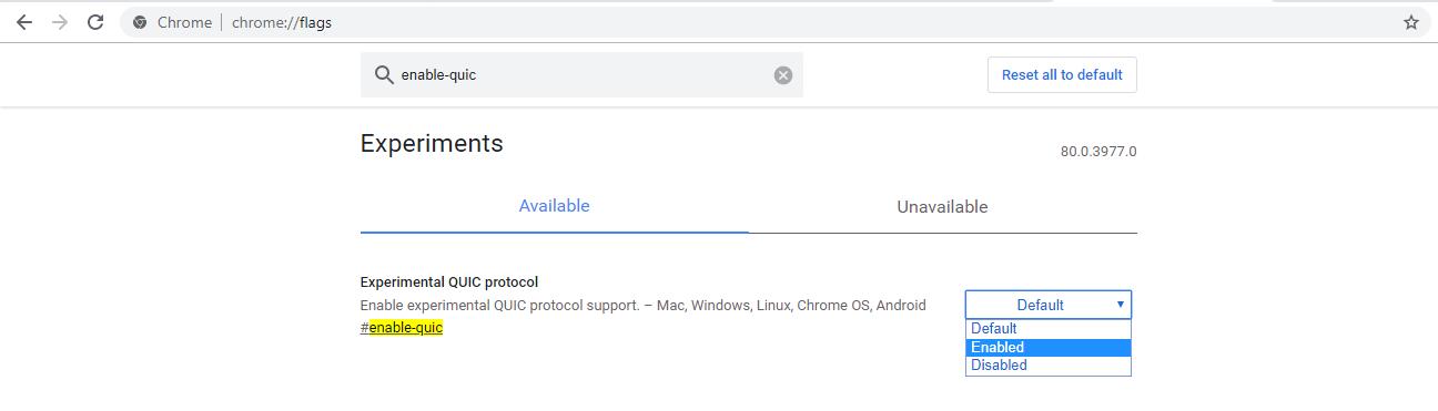 Bật giao thức http3 trên chrome