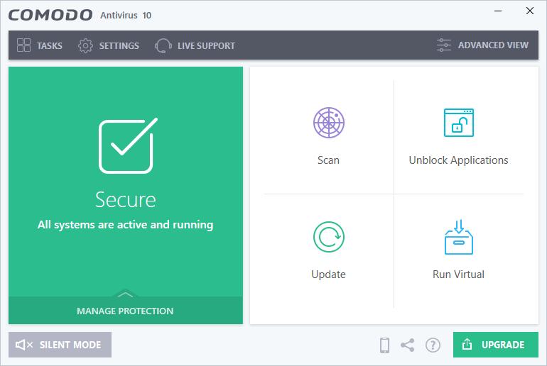 Phần mềm diệt virus Comodo antivirus