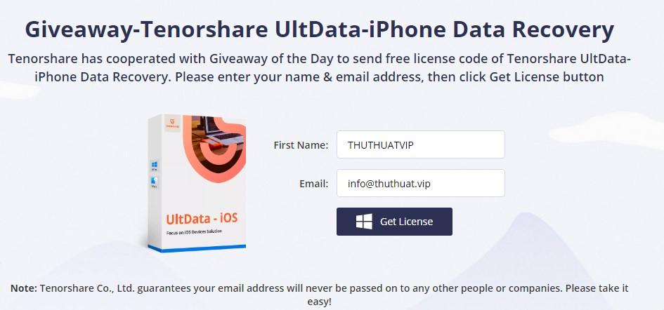 Miễn phí phần mềm khôi phục dữ liệu iphone