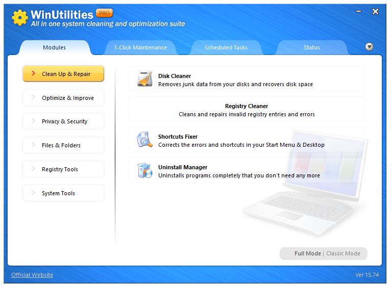 Miễn phí bản quyền phần mềm WinUtilities Pro