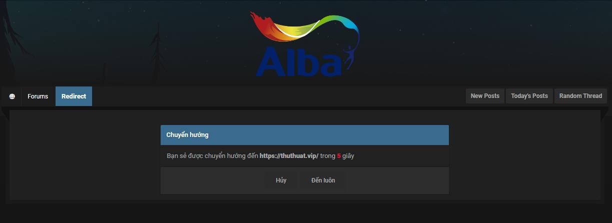 Tạo trang chuyển hướng (Redirect Page) trong forum MyBB