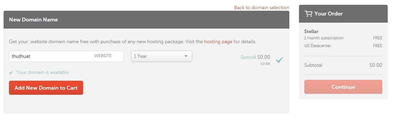 Nhập Domain Mua Hosting