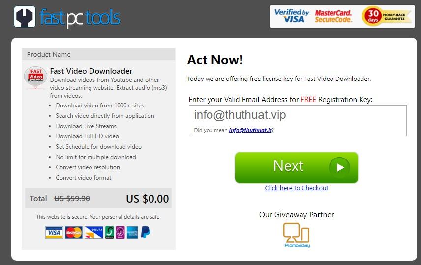Miễn Phí Phần Mềm Fast Video Downloader