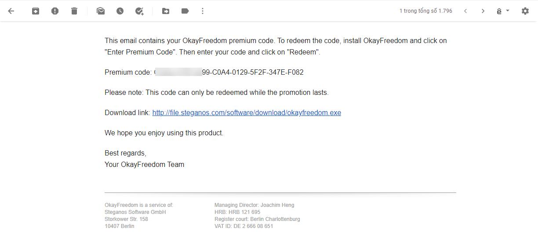 Okayfreedom Premium Code