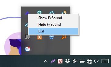 Tắt Fxsound