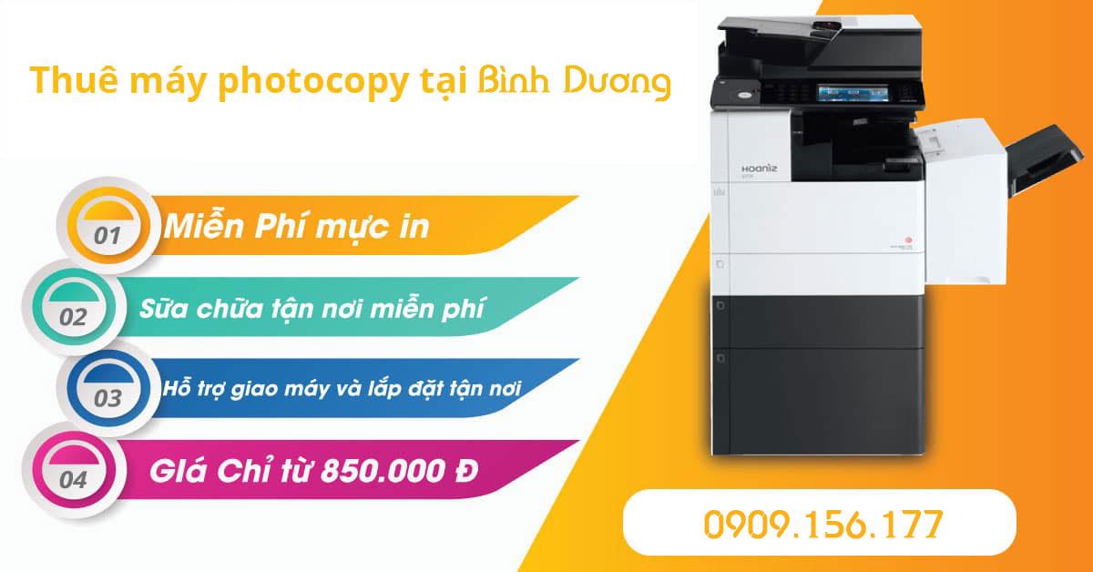 Công ty cho thuê máy photocopy tại Bình Dương