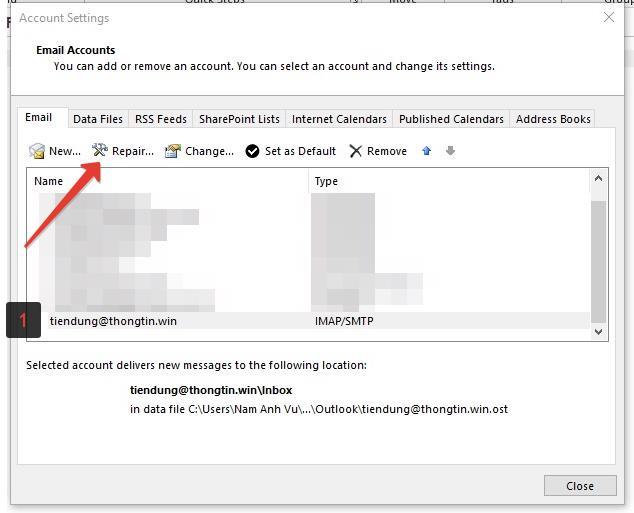 Chọn Email Cần Repair