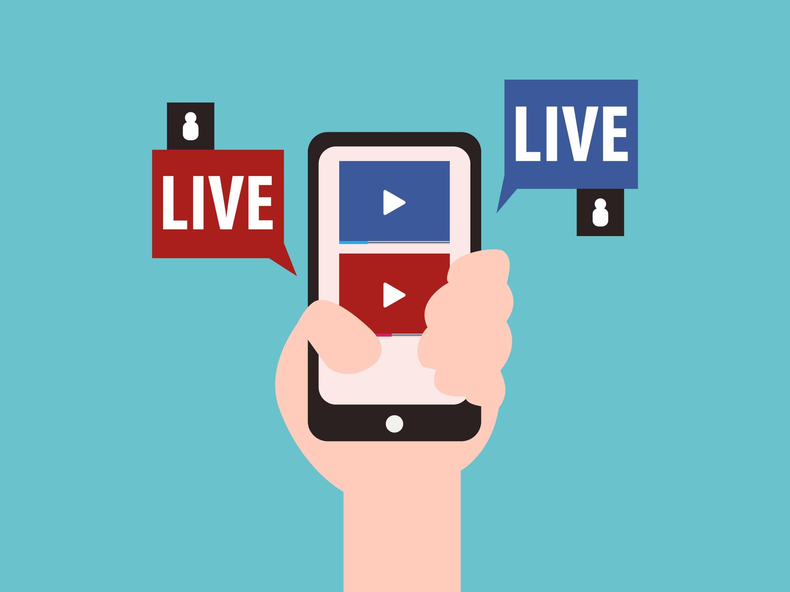 Facebook Live Video.