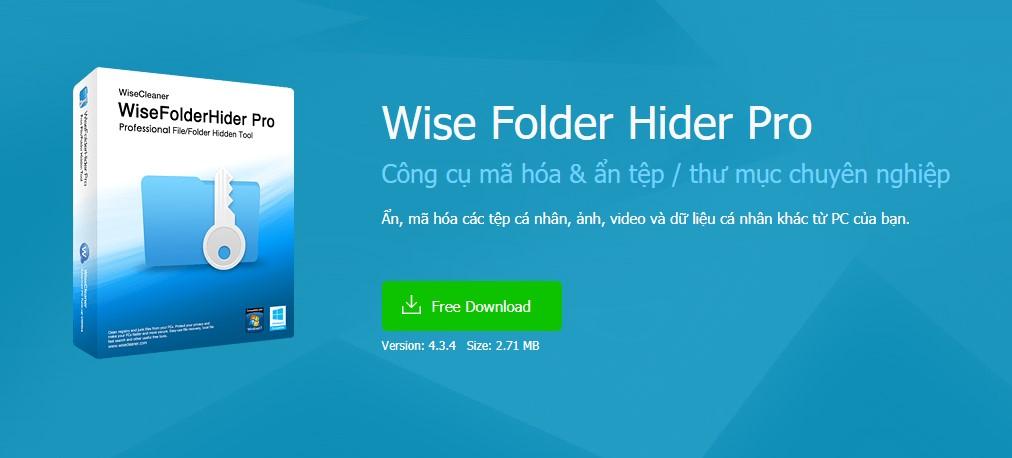 Phần Mềm Wise Folder Hider Pro