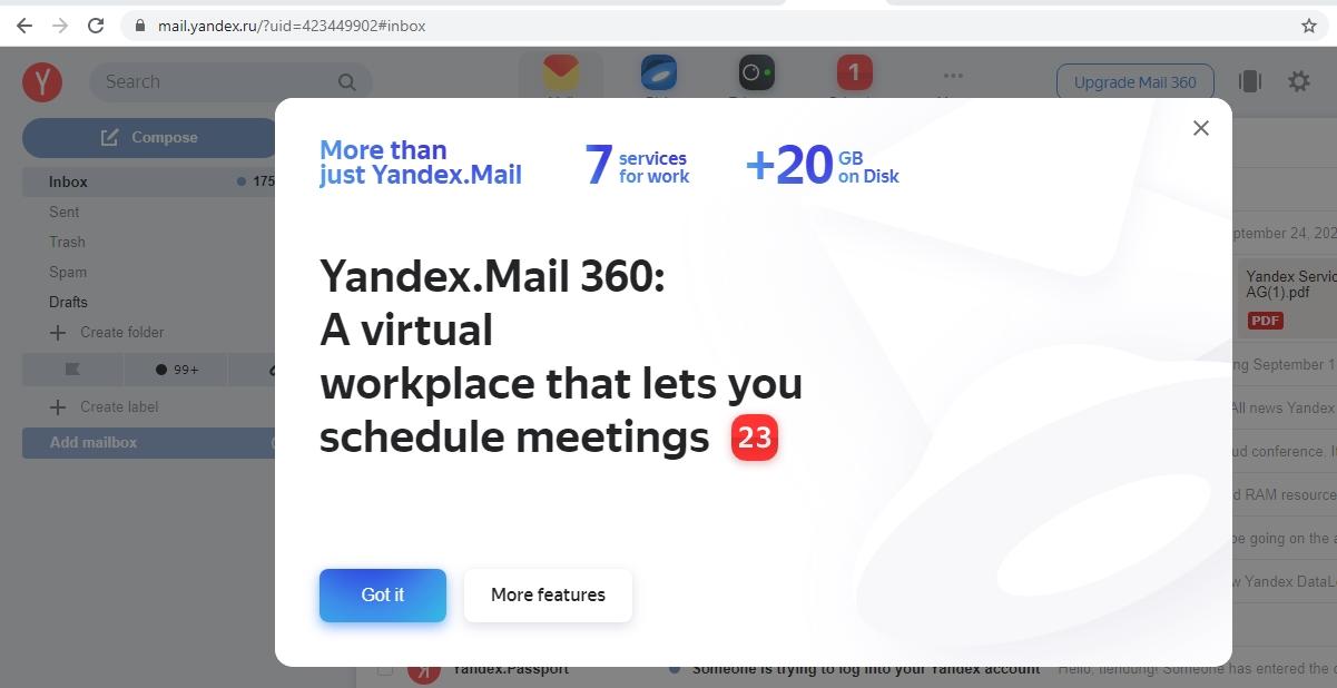 Nhân Thêm 20 Gb Yandex