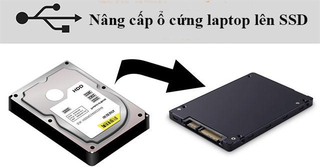 Nang Cap O Cung Laptop Len Ssd