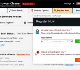 Key bản quyền phần mềm tối ưu hóa duyệt web, Fast Browser Cleaner